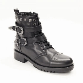 Ботинки La Pinta 0279-16072 S.A BLACK LEATHER